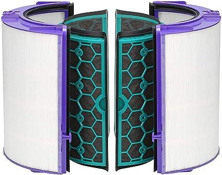 Recambio Filtro Hepa & Carbón Activado Filtro para Dyson TP04 TP05 HP04 HP05 DP04, Purificador de Aire Accesorios 360° Sistema de Filtro para Dyson Puro Frío Purificación Ventiladores - Blanco: Amazon.es: Bricolaje