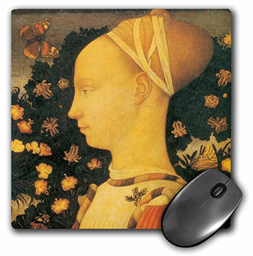 3dRose BLN Italian Renaissance Fine Art Collection - Ginepro dEste by Antonio Pisano - MousePad (mp_127096_1)