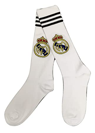 Real Madrid Youth/Kids Calcetines de fútbol (Blanco)