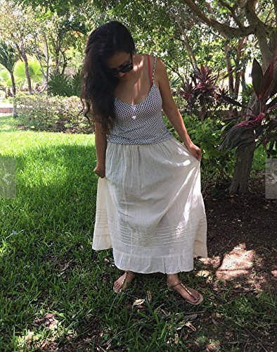 Mexican beige maxi long skirt