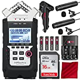 Zoom H4n Pro 4-Channel Handy Recorder with Clip-on Lavalier Omni-Directional & Cardioid Microphone Deluxe Bundle