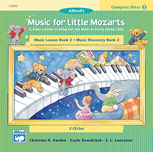 Music for Little Mozarts 2-CD Sets for Lesson and Discovery Books: A Piano Course to Bring Out the Music in Every Young Child (Level 2), 2 CDs