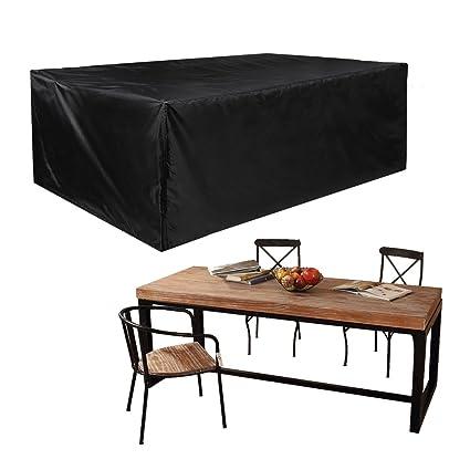 JTDEAL Fundas impermeables para mesa rectangular, Cubre mesa jardin ...