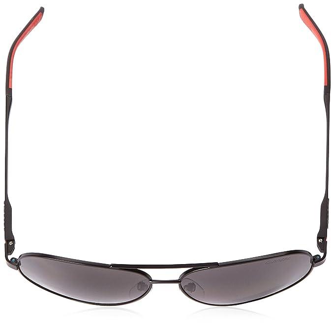 251cbc1ff59b Amazon.com: Carrera CA8010S Polarized Aviator Sunglasses, Matte Black &  Gray Polarized, 59 mm: Clothing