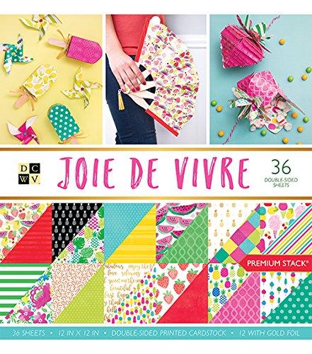 DCWV PS-005-00528 Card Stock 12X12 Stack Joie De Vivre, 36 ()