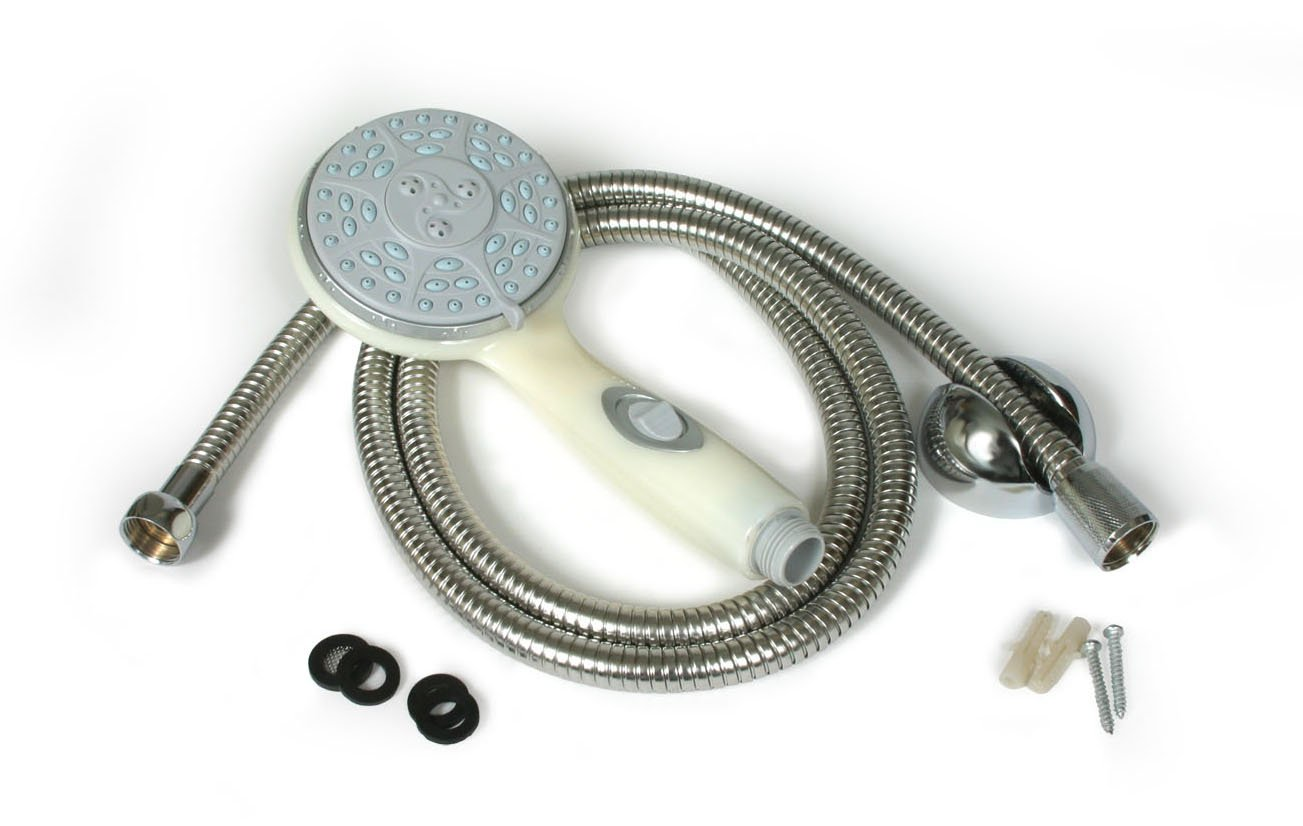 Amazon.com: Camco 43715 Shower Head Kit with On/Off Switch and 60 ...