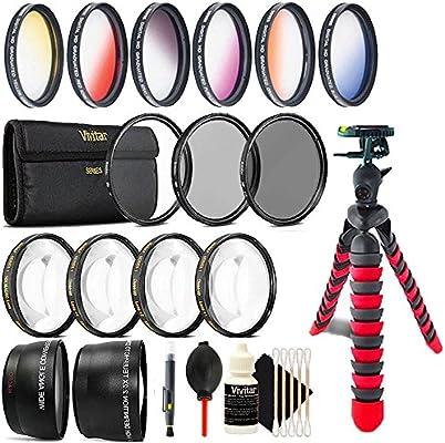 52 mm parte superior profesional Kit de lentes y trípode para ...