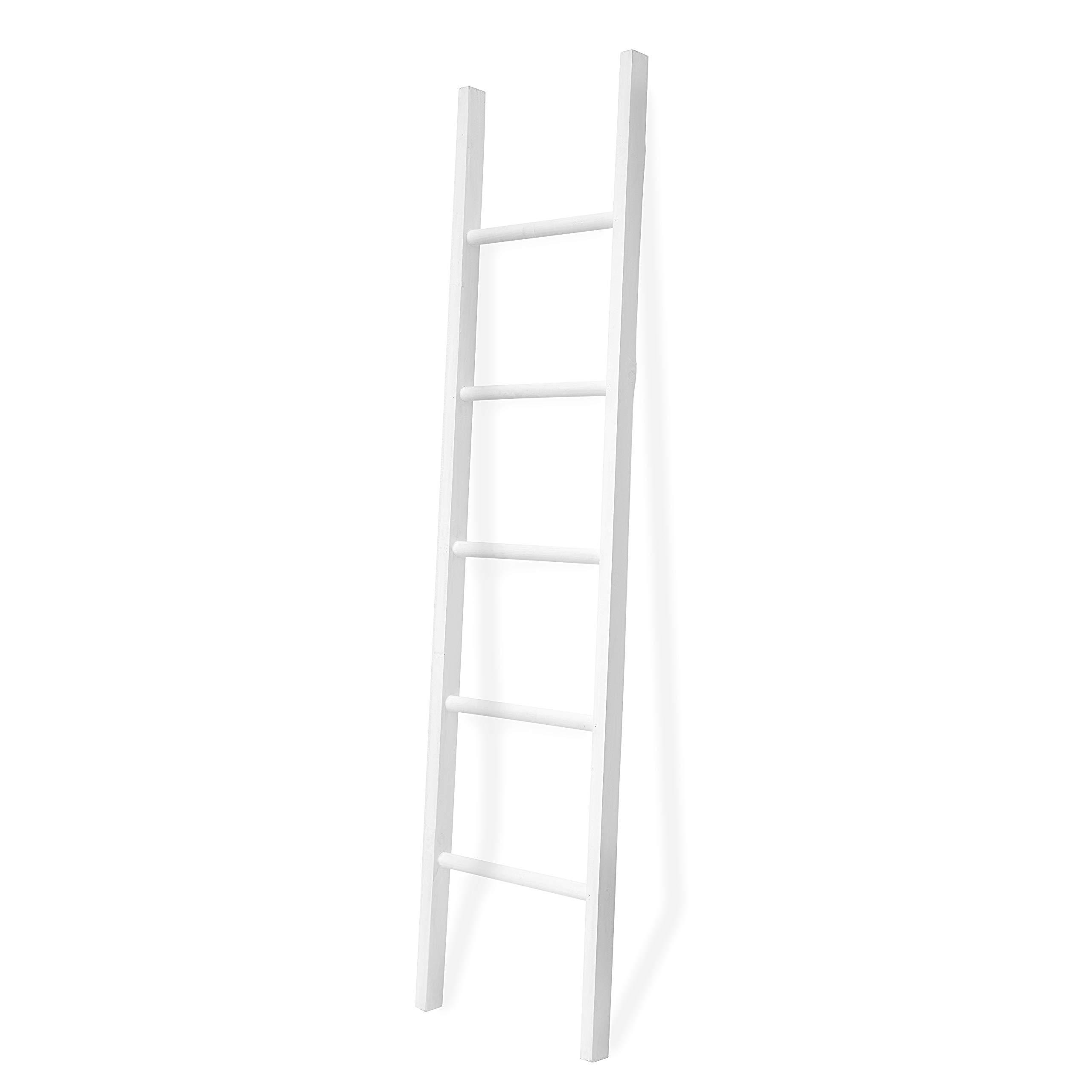 FUIN 20 Ft Wood Decorative Wall Leaning Blanket Ladders Bathroom ...