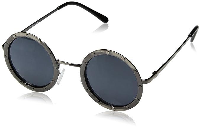 ddf46af3774 Amazon.com  A.J. Morgan Gladiator Round Sunglasses Antique Silver 46 ...