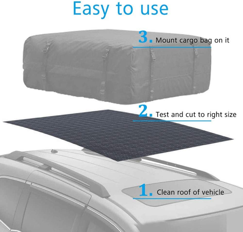 YYWJ Cargo Roof Bag Protective Mat,Car Roof Non Slip Rack Pad Storage,for All Vehicle with//Without Rack