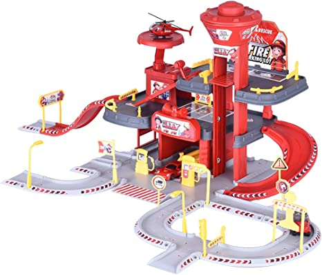 Quality car park parking set Garage play set  with 4 cars For Kids