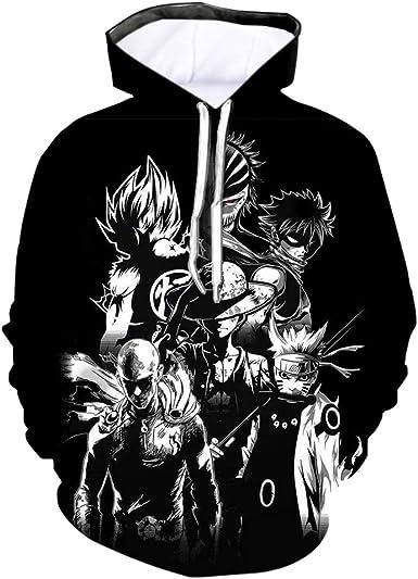 5XL Womens//Mens Japanese Anime 3D Print Casual Sweatshirts Hoodies Pullover Tops