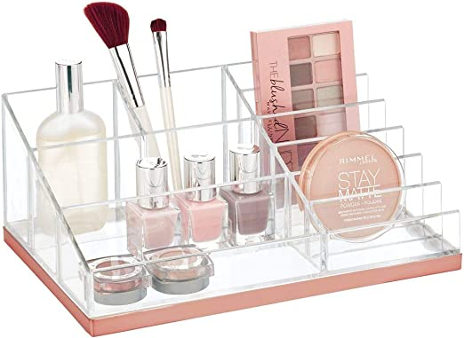 mDesign Práctico organizador de maquillaje – Decorativa caja para ...