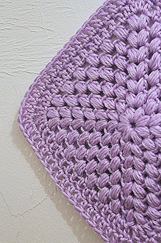 Amazon Puff Stitch Binky Blanket Lilac Purple Crochet Pacifier