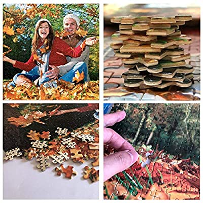 Custom Photo Jigsaw Puzzle 1000 Pieces,Personalized Jigsaw Puzzle Family Photo Wedding Photos for Adults Kids: Arts, Crafts & Sewing