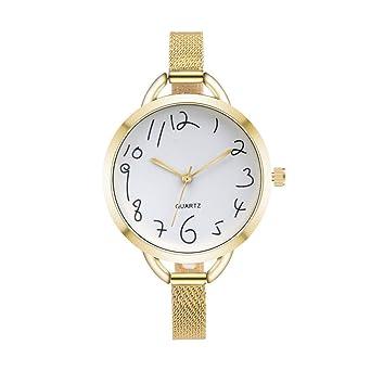 Amazon.com: COOKI Relojes de cuarzo para mujer, relojes de ...
