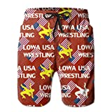 Oct USA Wrestling Logo Elastic Mens Boardshorts Swim Trunks Tropical Basketball Board Shorts Jersey