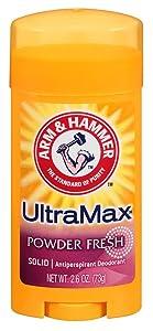 Arm & Hammer Deodorant 2.6oz Solid Ultra Powder Fresh (Oval) (3 Pack)