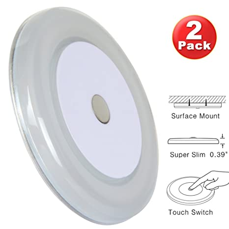 RV Boat Ceiling Light 12 Volt LED Puck Light Ultra Thin Inbuilt Touch  Dimmable Switch For