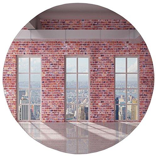 ,Modern Decor,Red Brick Wall Loft Interior with Windows to City Urban Contemporary Design,Multicolor,Flannel Microfiber Non-slip Soft Absorbent,for Kitchen Floor Bathroom ()
