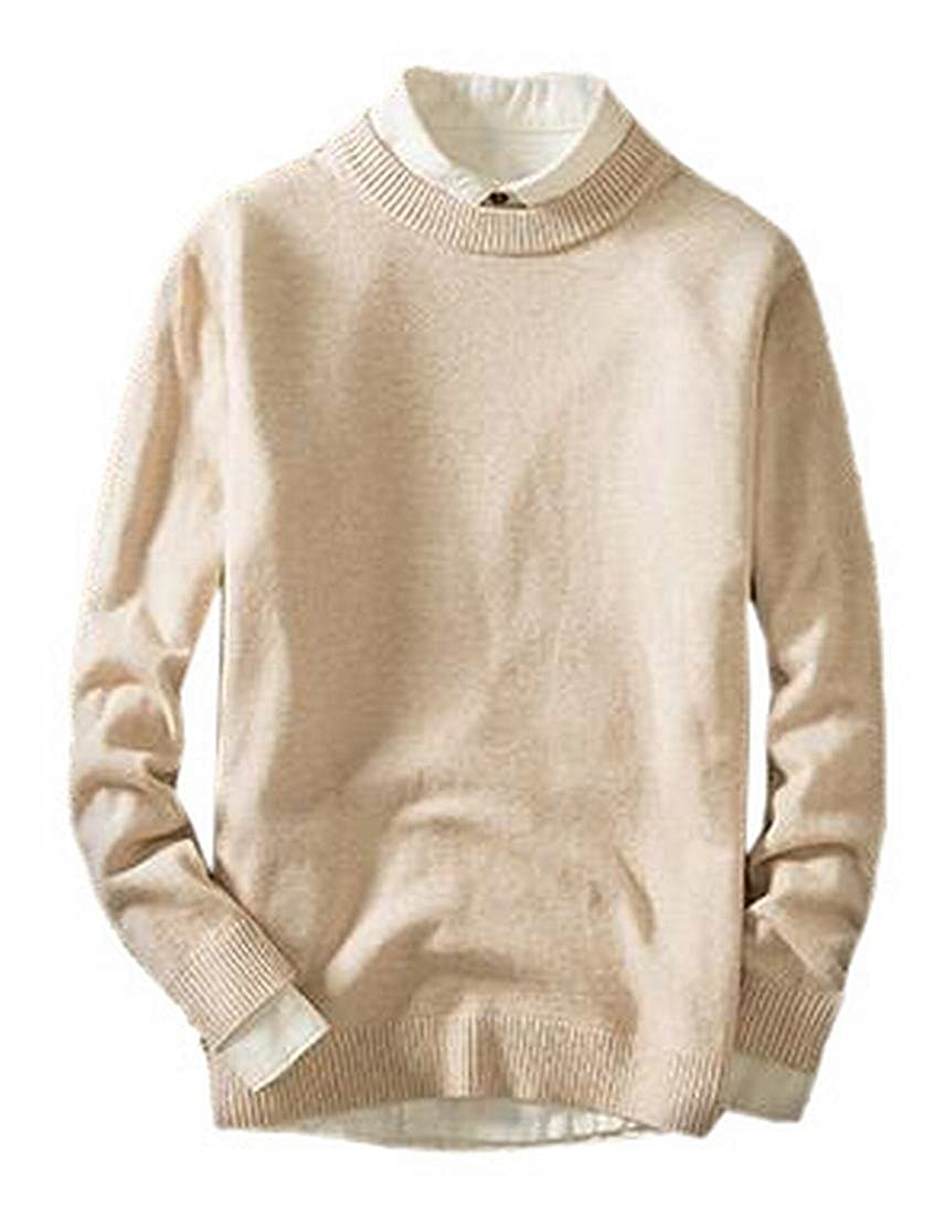 Tymhgt Mens Casual Basic Knitted Slim Fit Pullover Thermal Sweaters