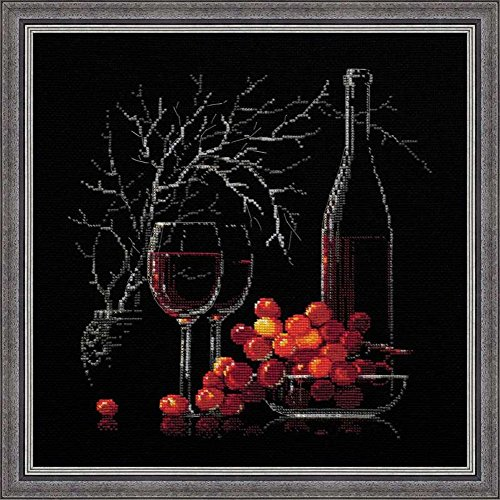 RIOLIS 1239 - Still Life with Red Wine - Counted Cross Stitch Kit 11¾