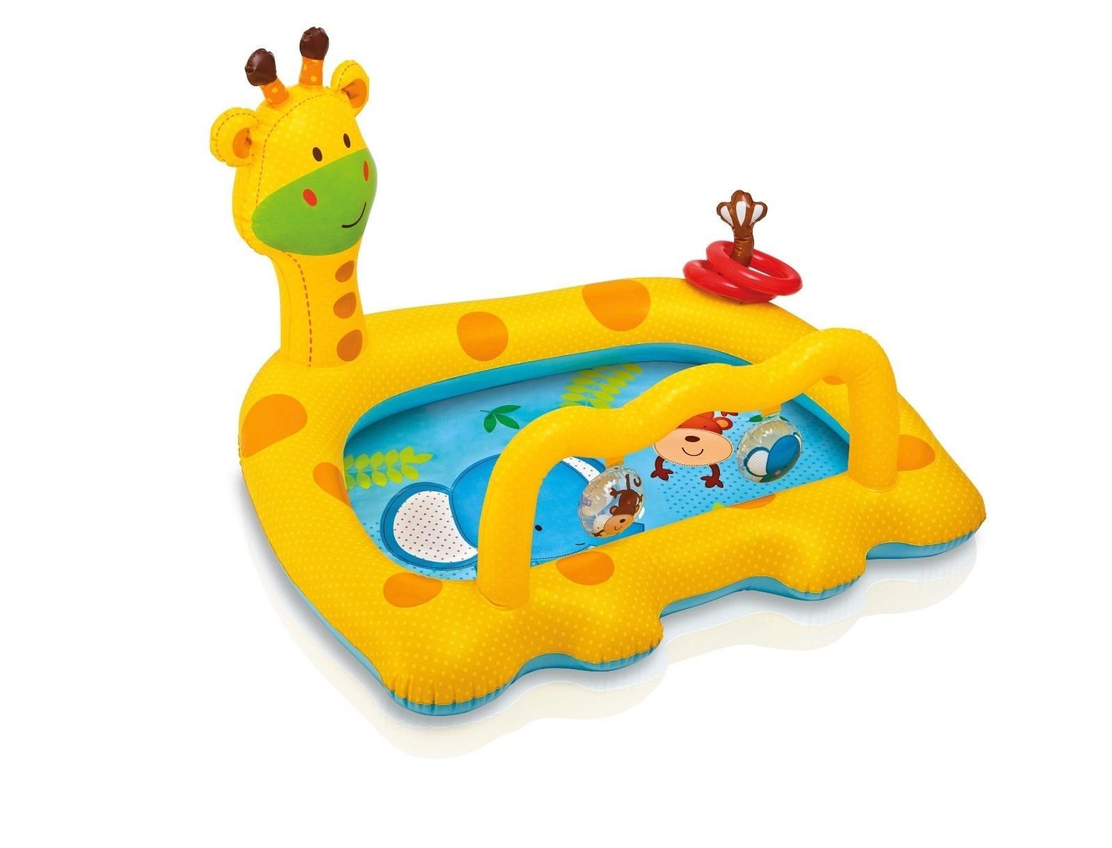 Intex Smiley Giraffe Inflatable Baby Pool, 44'' X 36'' X 28.5'', for Ages 1-3