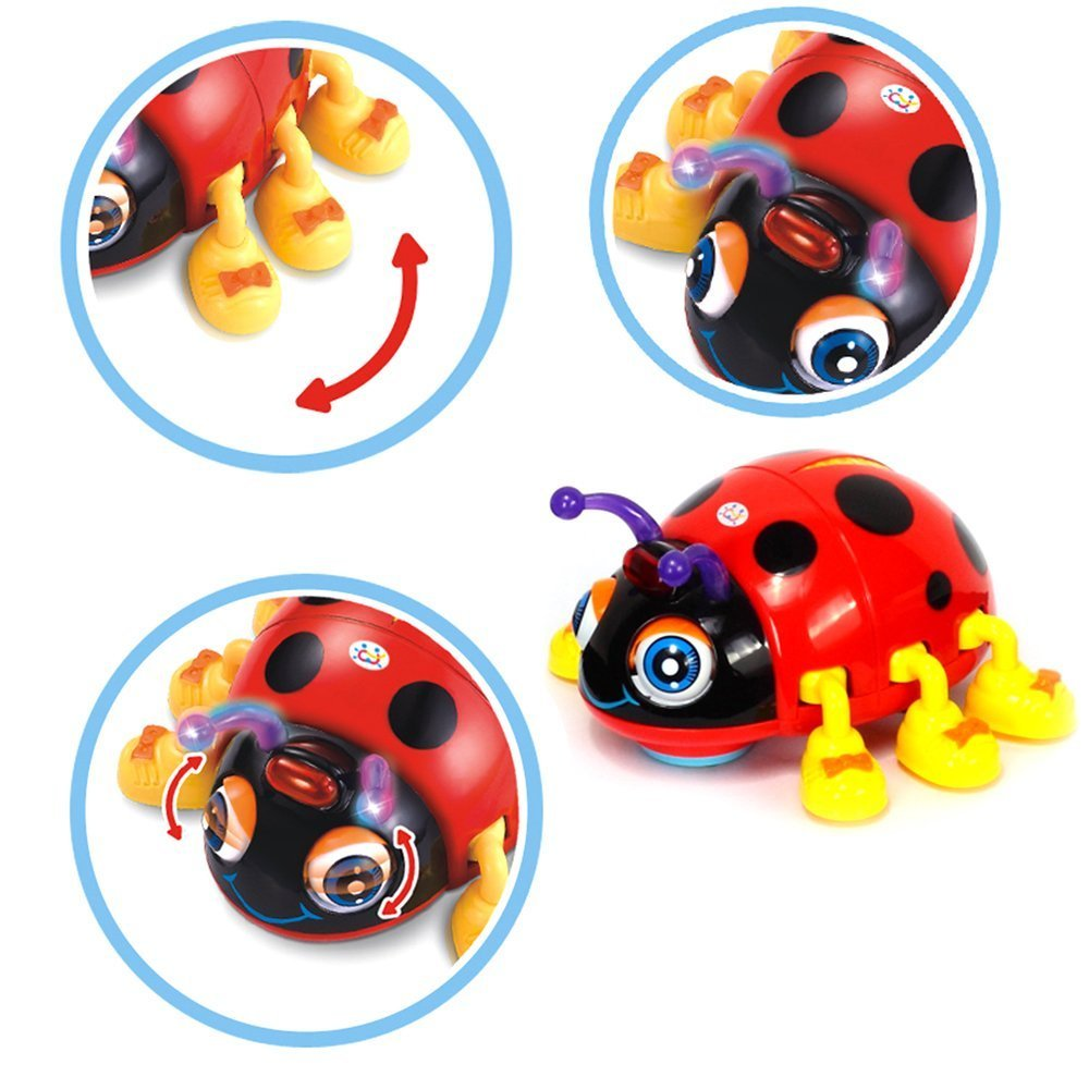 Early Education 3 Year Olds Baby Toy Smart Beetle with Light Music Electric D Ladybug for Children & Kids Boys and Girls Eastsun Import Limited