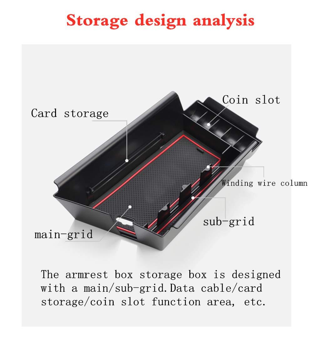 For Tesla Model 3 Center Console Storage Organizer 2017-2019 Drawer Holder Box