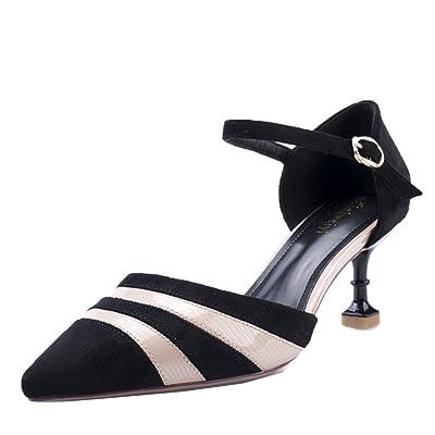 Chaussures à Talons Hauts Pour Femmes Avec La Bouche Peu Profonde Princesse Wind Suede Court Shoes Chaussures De Mariage Unique élégant,Beige-6cm-EU:37/UK:4.5