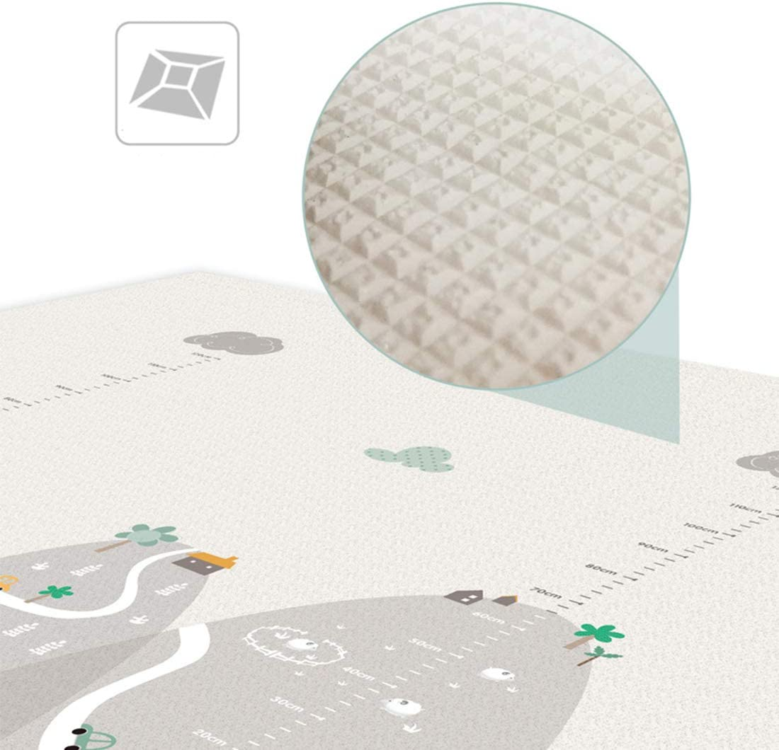 Hautfreundlich und Anti-Rutsch Tosbess Baby-Spielmatte Krabbeldecke Baby Spielmatte Spielteppich Babyschleichenmatte 200 x 180 cm