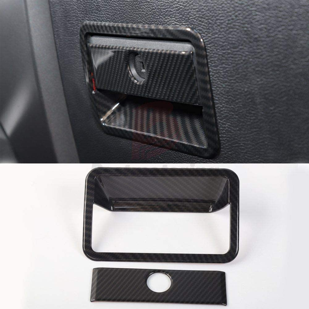 Carbon Fiber ABS Car Gear Shift Panel Cover Trim,Car Interior Trim,Gear Shift Panel Decorative Cover Trim for Ford F150 2016+