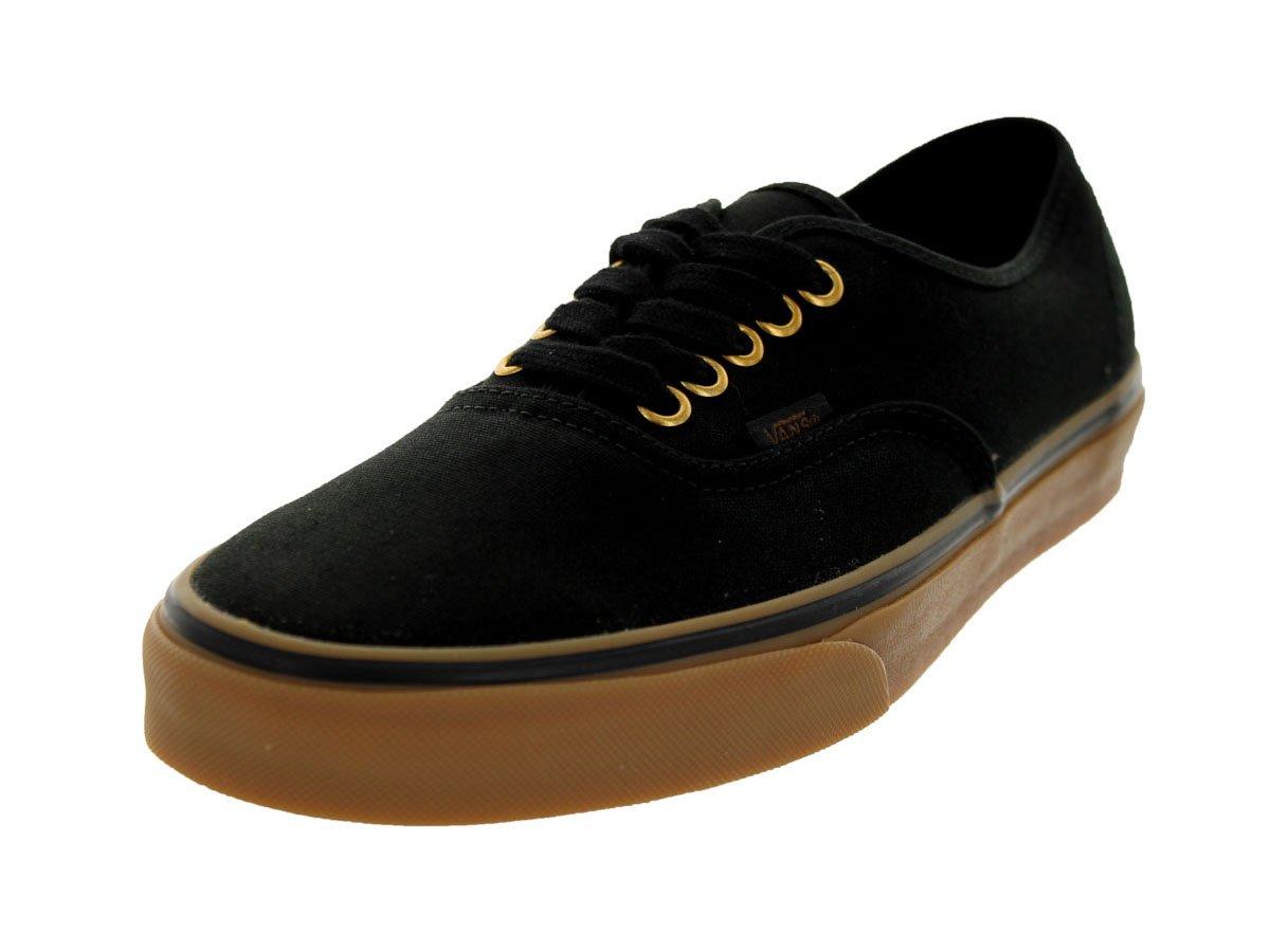 Vans Unisex Authentic Black/Rubber Skate Shoe 9.5 Men US / 11 Women US