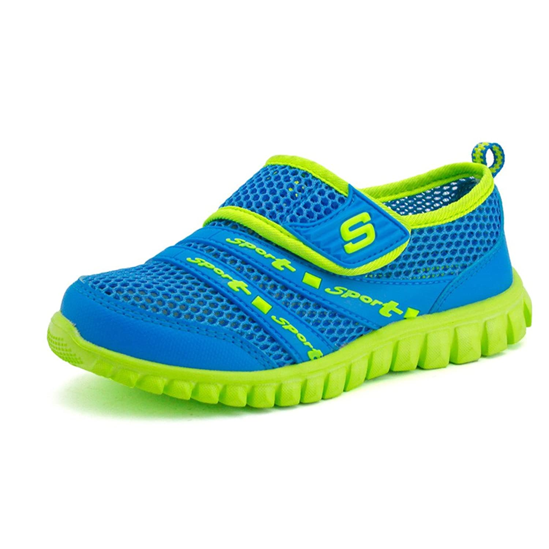 Eagsouni Unisex Niños Malla Transpirable Velcro Zapatos del Ocio Peso Ligero Transpirables