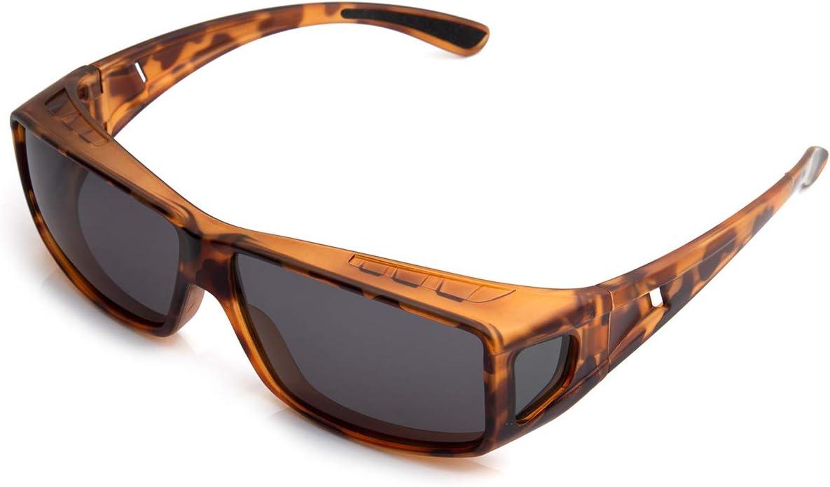 Wear Over Glasses for Reading and Prescription Glasse Anti-Glare Sunglasses TAC Lenses Sunglasses with Polarized Lenses for Men and Women UV400 Protection. ROAR Fit Over Glasses