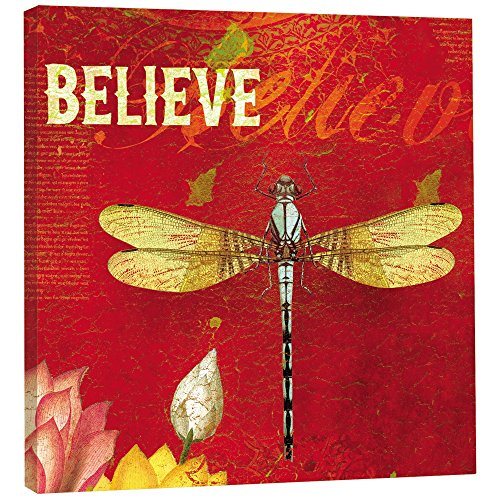 Tree-Free Greetings  Believe Themed Dragonfly Art