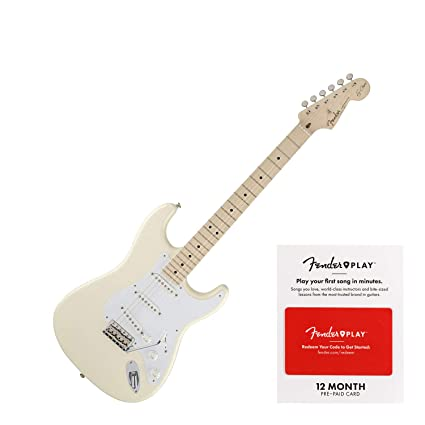 Fender Vintage Noiseless Stratocaster Pickups Set Amazon Com >> Fender Eric Clapton Stratocaster Electric Guitar Maple Fingerboard Olympic White