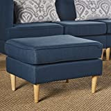Milltown Mid Century Modern Fabric Ottoman (Navy Blue) Review