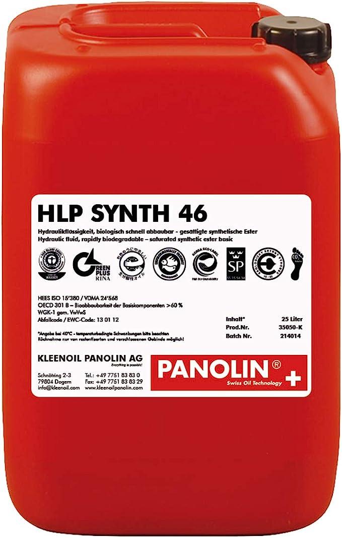 Panolin Hydrauliköl Hlp 46 Synth 25 L Kanister Biologisch Abbaubar Baumarkt
