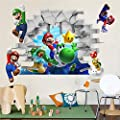 3D+ Super Mario Removable Bros Kids Room Games Wall Sticker Decals Home Decor