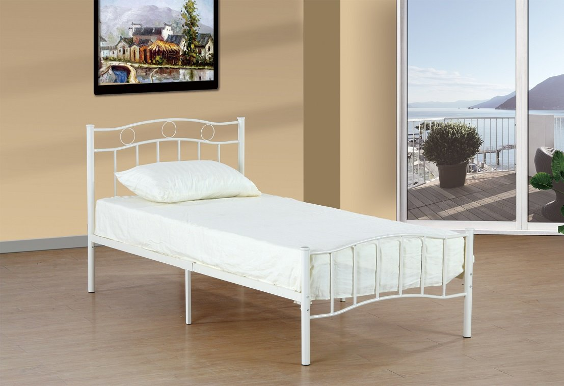 Platform Bed (White, Single/Twin) Import Furniture