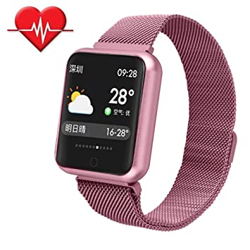 TechCode Relojes Inteligentes Mujeres, Activity Tracker Reloj con Monitor de Ritmo cardíaco Pulsera Inteligente Pulsera IP68 Smartwatch Sleep Monitor ...
