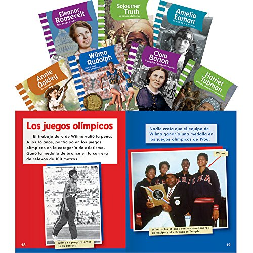 American Biographies Set: Women (Classroom Library Collections) (Spanish - For Kids Rudolph Wilma