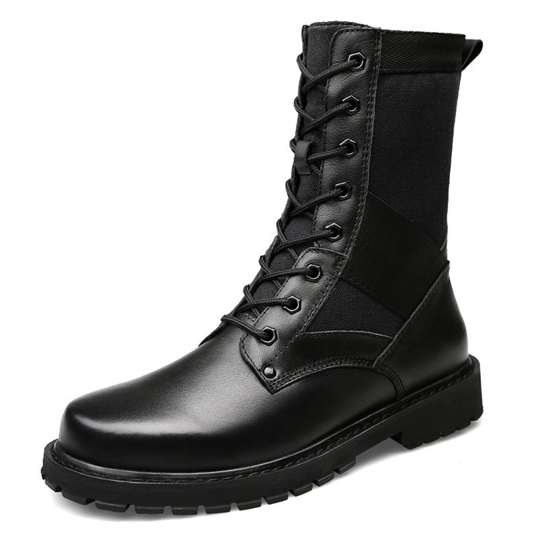 ZQ@QXEl otoño y el invierno de alta cima irregular con Martin botas de Europa y los Estados Unidos tendencia del hombre de botas, 41 41|Black single shoes Black single shoes