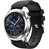 Samsung Gear S3 Frontier / S3 Classic Replacement Watch Band,iFeeker Accessory Soft Silicone Bracelet Wrist Strap Watch Band for Samsung Gear S3 Frontier / Classic Smartwatch