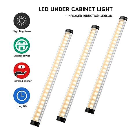 Lampwin - Barra de Luces LED, Luz del gabinete, 24 luces y 3W/