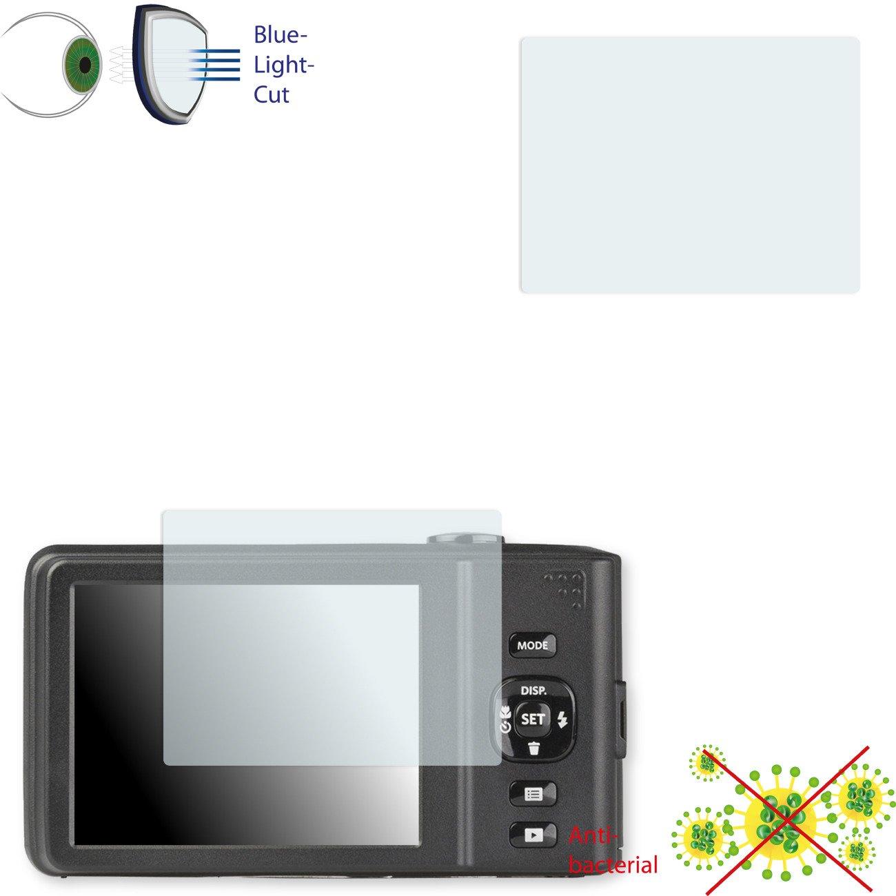 2 x DISAGU 透明スクリーン保護フィルム、Kodak Pixpro FZ151抗菌、ブルーカット保護フィルム。   B0779RM79G