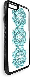 ديكالاك كفر حماية خلفي لايفون 8 بتصميم رسوم زخرفية عمودية - تركواز  ، متعدد الالوان