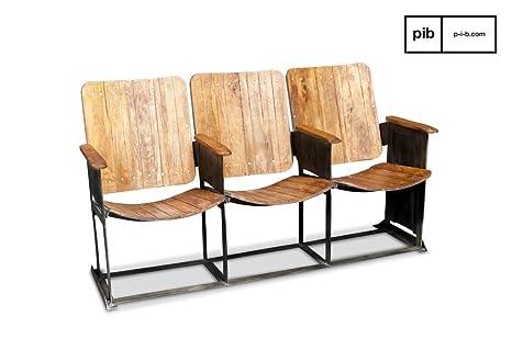 Dimensioni Poltrone Teatro.Pib Divani Tripla Sedia Da Teatro In Stile Vintage Fila