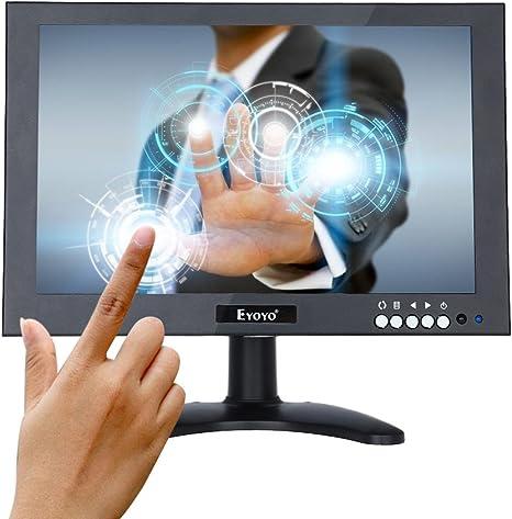Eyoyo 10 Inch IPS Touch Monitor HDMI EDP HD 1920 x1200 Protector de pantalla portátil con VGA BNC AV entrada USB para FPV Vídeo TV CCTV cámara de seguridad 10 inch: Amazon.es: Informática